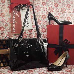 Brighton black patent purse